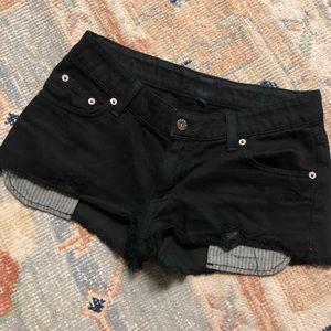 Carmar Mid-rise Back Cutoff Denim Shorts 27